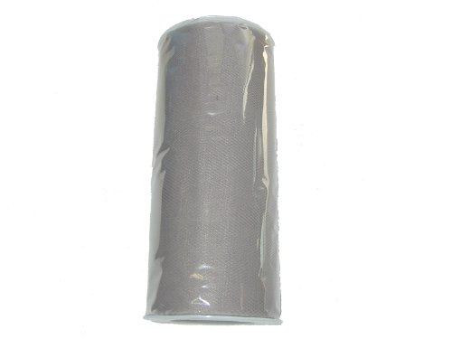 "6"" X 25 Yard Roll Of Silver Tulle Fabric"