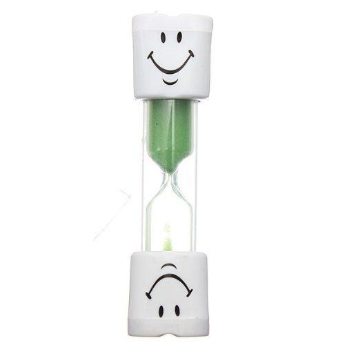 Peily Bambini Smiley Timer Spazzolino clessidra 2 Minutes (Verde)