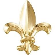 10K Yellow Gold Fleur De Lis Brooch 3…