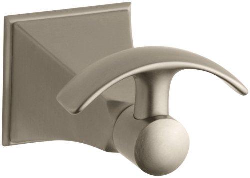 Kohler k 492 bv memoirs robe hook with stately design for Vibrant brushed bronze bathroom lighting