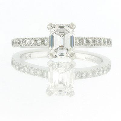 1.46ct Emerald Cut Diamond Engagement Anniversary