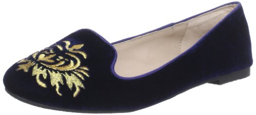 Buffalo Girl 118-5 VELVET Business Womens Blue Blau (NAVY) Size: 5 (38 EU)