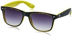 Buzz Wayfarer Unisex Sunglasses (1086-104/112|58|Black lens)