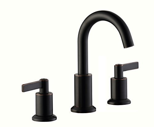 Derengge solid brass two handles 8 widespread bathroom for 8 bathroom faucet bronze