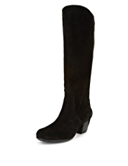Footglove™ Suede Wide Fit Water Resistant Long Boots