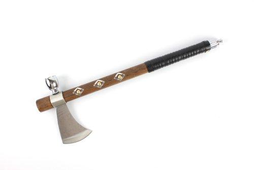 "Wuu Jau Co L-20 Native American Peace Pipe Tomahawk Axe, 19"""