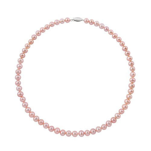 5.5-6mm 36 Inch Pink Freshwater Pearl Necklace