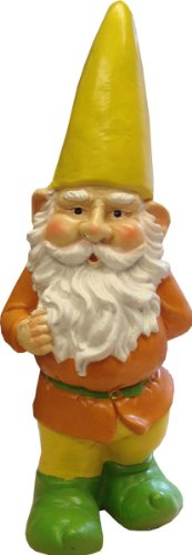 Westwoods Outdoor Living Traditional Large Garden Rainbow Gnome 43cm D32492/G Orange with Yellow Hat