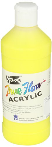 Sax True Flow Medium-Bodied Acrylic Paint - Pint - Chrome Yellow