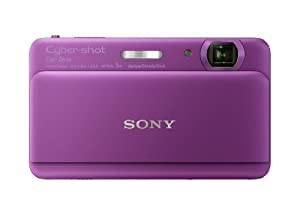 Sony Cyber-shot DSC-TX55 16.2 MP Slim Digital Camera with 5x Optical Zoom and 3.3-Inch OLED touch screen (Violet)