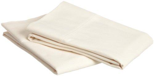 Pinzon Signature 190-Gram Cotton Velvet Flannel Standard Pillowcase, Set Of 2, Cream front-1056954