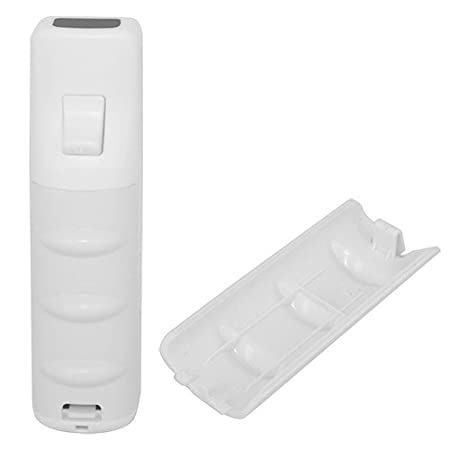 Skque Remote Controller Grip Style Battery Cover for Nintendo Wii, White