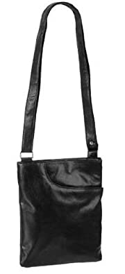 EyeCatchBags - Krystal Cross Body Shoulder Bag Black