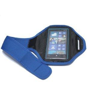 Bestwe® Nokia Lumia 920 Original Neoprene Deluxe Dual Fit Easy Fit Freizeit ,Sport ,Jogging und Fitnessstudio Armband Armtasche Oberarmtasche (Blau)