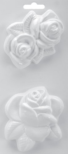 Yaley Soapsations 4x9 Soap Molds: Rose & Double Rose