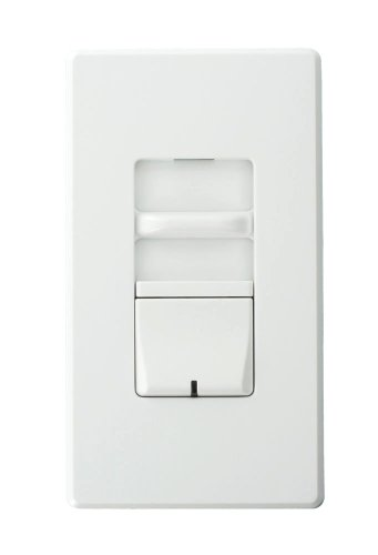 Leviton Awsmt-Hbw Renoir Ii Preset Slide Dimmer, Ballast 3-Wire Control, Thin Heat Sink, Narrow, 8-1/3 A, White