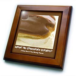 Chocolate Éclair - 8x8 Framed Tile