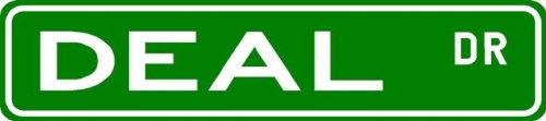 DEAL Street Sign ~ Family Lastname Sign ~ Gameroom, Basement, Garage Sign