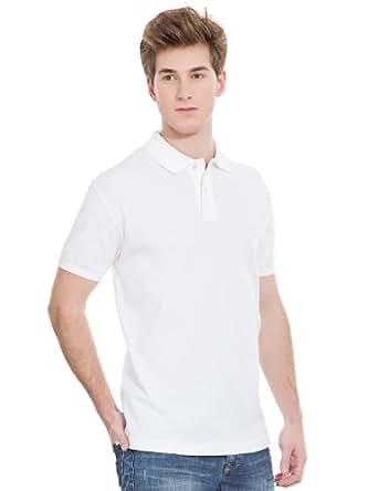 Springfield - Einfaches Poloshirt mit aufgesticktem Logo - Herren, XXL, weiß