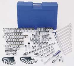 Westward 4YP78 Socket Set, 204 Pieces