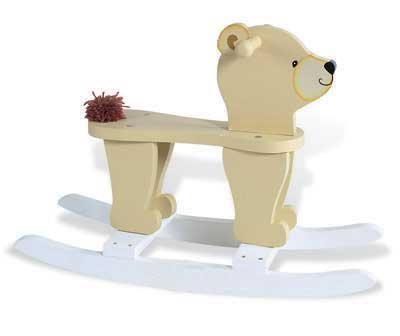 Childs Rocking Horse Wooden Teddy Bear Rocker - Rocking Teddy