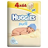Huggies Pure Baby Wipes 4 x 64 per pack