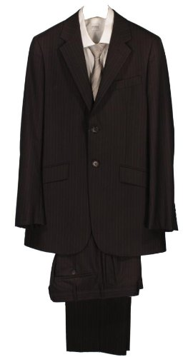 Paul Smith Single Breasted Pinstripe Suit - Black - 38