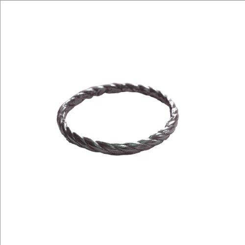 Kiel Mead-Medium Rope Ring Silver - 9