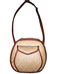The House Of Cane Women's Sling Bag Ivory (THC_1_Ivory)