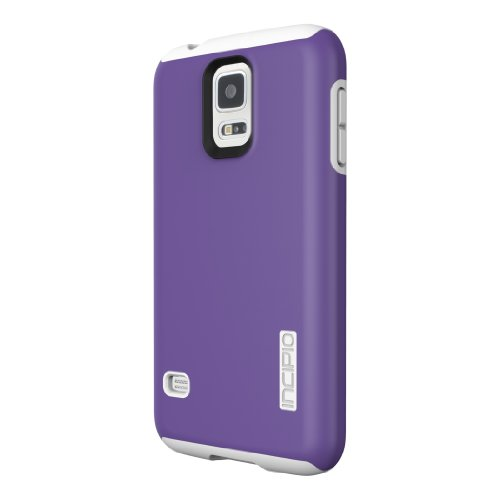 Incipio Dualpro Case For Samsung Galaxy S5 - Retail Packaging - Purple/White