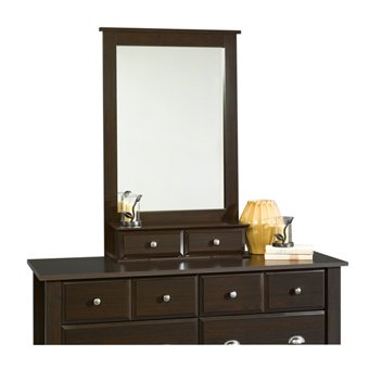 Shoal Creek Framed Mirror Jamocha Wood Finish front-908227