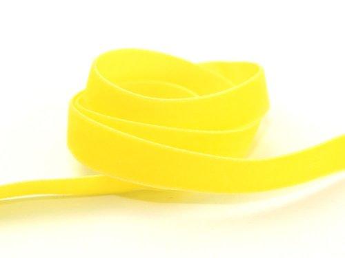 Berisfords Samtband, breit, gelb - 9573 Trinkbecher ca. 9 mm breit, Meterware