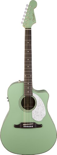 Fender Sonoran Sce, Surf Green Acoustic-Electric Guitar