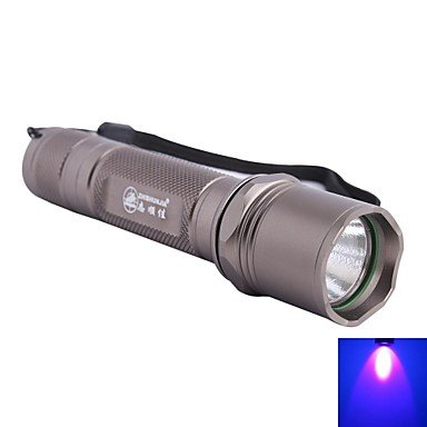 Mch-Zhishunjia Led 415Nm 5-Mode 1Xled Ultraviolet Uv Led Flashlight (1 X 18650,Grey)