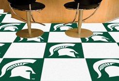 Fanmats Ncaa Michigan State University Spartans Nylon Face Team Carpet Tiles front-604226