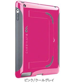 Case-mate iPad 2用 ハイブリッドシームレスケース ポップ (ピンク/クールグレイ) CM013588