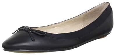 Buffalo London 207-3562 KID LEATHER, Damen Geschlossene Ballerinas, Schwarz (BLACK 01), 36 EU