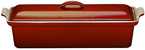 Le Creuset Enameled Cast-Iron 2 Quart Pate Terrine, Cerise (Cherry Red)