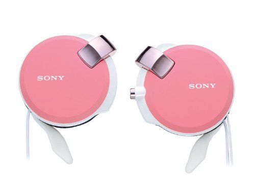 Sony Clip-On Stereo Headphones With Retractable | Mdr-Q38Lw P Pink