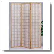 Natural Wood Shoji Screen Room Divider
