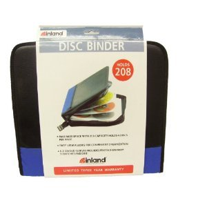 Inland Pro CD/DVD Travel Case - Wallet for CD/DVD discs - 200 discs
