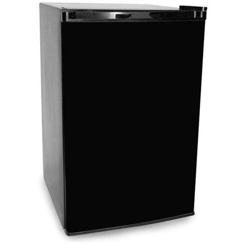 Haier HNSE05BB 4-3/5-Cubic-Foot Compact Refrigerator/Freezer, Black/Stainless