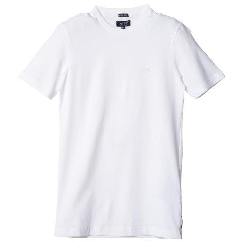 (アルマーニ・ジーンズ)Armani Jeans 並行輸入 T-Shirt ティーシャツ ワンポイントロゴ 06H94/DA 10 WHITE L