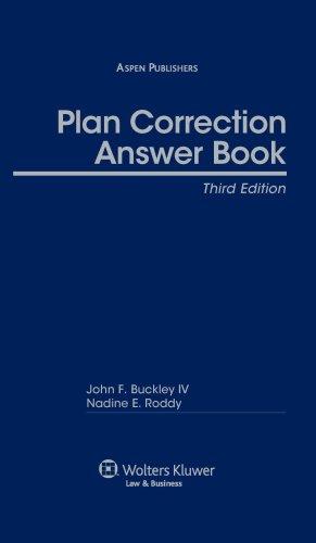 Plan Correction Answer Book