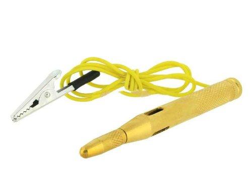 Dc 6V-24V Auto Car Circuit Electrical Copper Tester (Golden)