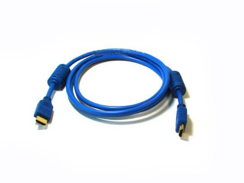 Lpg Premium 3ft 1m Ultra-high Speed Hdmi Cable - 120 Hz - Version 1.3 Category 2 - 1080p - Ps3 - Blu-ray - Xbox360 - Blue Color