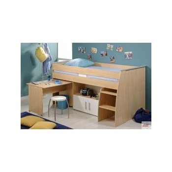 pas cher lit combin en 90x200 pour chambre enfant elit. Black Bedroom Furniture Sets. Home Design Ideas