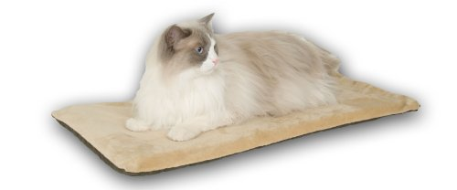K&H Manufacturing Thermo-Kitty Mat Mocha 12.5-Inch by 25-Inch 6 Watts