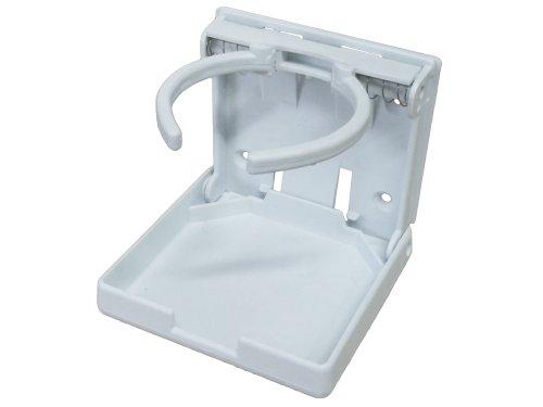 White Nylon Adjustable Folding Drink Cup Holder For Boat Caravan Rv- Five Oceans front-441097