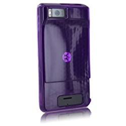 Verizon High Gloss Purple Silicone Cover For Droid X